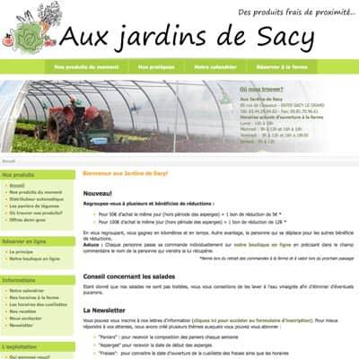 Aux jardins de sacy panier de l gumes direct producteur for Aux jardins