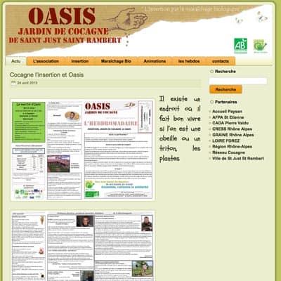 Jardin de cocagne oasis loire 42 for Oasis jardin de cocagne